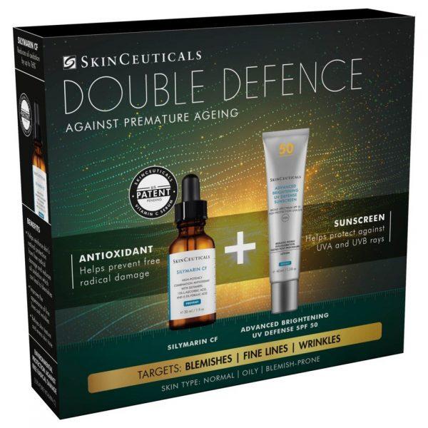 SkinCeuticals DOUBLE DEFENSE KIT (SILYMARIN+ ADV BRIGHT)